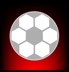 soccer ball style vector image
