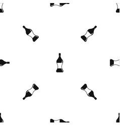 soda water pattern seamless black vector image vector image