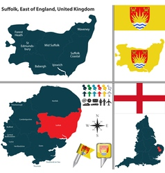 Suffolk east of england vector