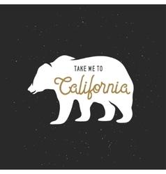 Take me to California t-shirt graphics vector image vector image