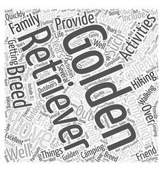 The golden retriever word cloud concept vector