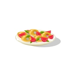Traditional italian gnocchi vector