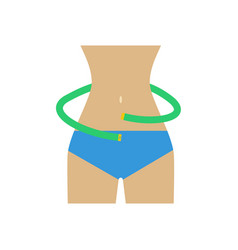 waist measurements vector image