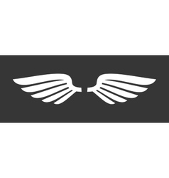 White Angel Wings Icon vector image vector image