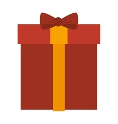 red gift box present vector image