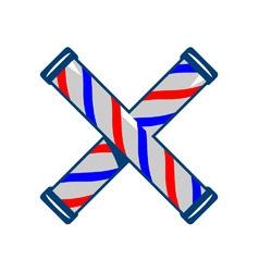 Barbers Pole Crossed Retro vector image