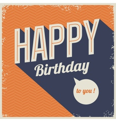 Vintage retro happy birthday card vector