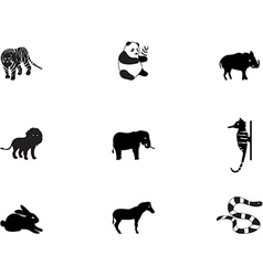 Animal icons 3 vector image
