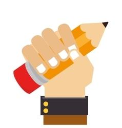 Pencil school supply isolated icon vector