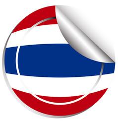 Thailand flag in sticker design vector
