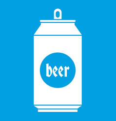 Beer in aluminum cans icon white vector
