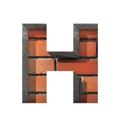 Brick cutted figure h paste to any background vector