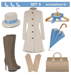 Female accessories set 5 vector