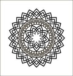 Monochrome ethnic ornament vector