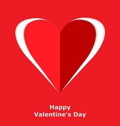 heart cut vector image