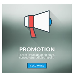 Flat design concept for promotion with blur vector