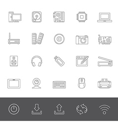 Line icons computer vector