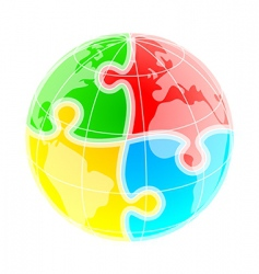 puzzle world vector image