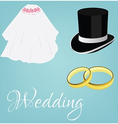 Wedding set vector image