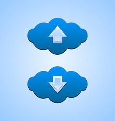 Up and down clouds vector