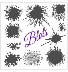 Blots set vector