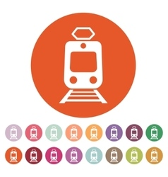 The train icon metro and tram railroad symbol vector