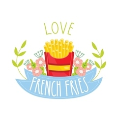 French fries isolated on white background vector