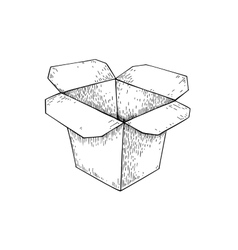 Chinese food box drawing isolated vector