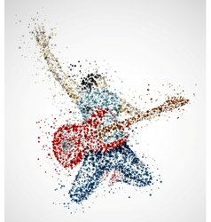 Abstract guitarist vector