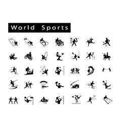 A Set of 35 World Sport Icons vector image vector image