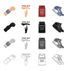 Basketball game training and other web icon in vector