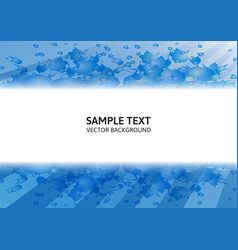 blue abstract background modern design with copy vector image vector image