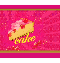 cake abstract card vector image vector image