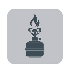Camping stove icon flat icon isolated vector