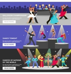 Dance banner flat vector