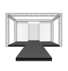 Fashion runway podium stage metal truss system vector