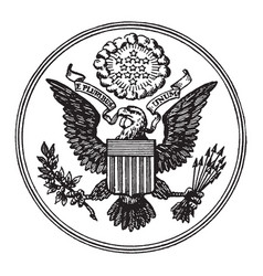 Great seal of the united states vintage vector