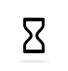 Hourglass icon on white background vector image vector image