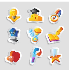 Icons for science education and medicine vector image vector image