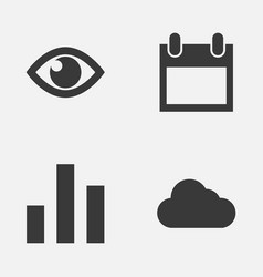 Interface icons set collection of date eye vector