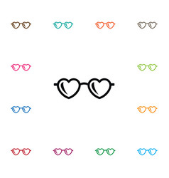 isolated spectacles icon glasses element vector image vector image