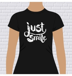Just smile t-shirt design vector