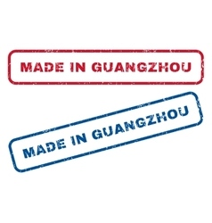 Made in guangzhou rubber stamps vector