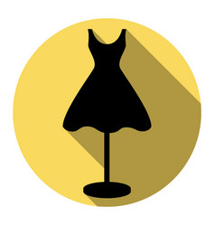 mannequin with dress sign flat black icon vector image