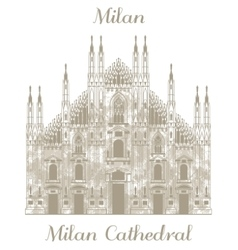 Milan cathedral vector