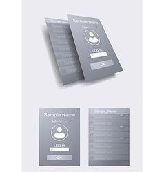 Mobile UI concept - flat design vector image