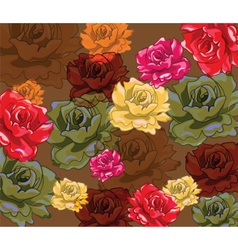 Multicolored bright roses background vector