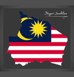 Negeri sembilan malaysia map with malaysian vector