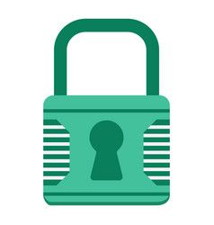 Padlock flat icon security and lock vector