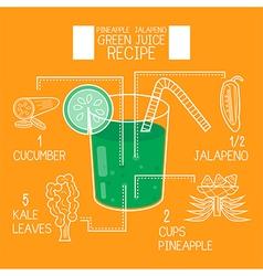 Pineapple jalapenogreen juice recipes great detox vector image vector image
